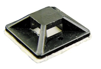 Picture of 080-170-100 Black self adhesive cable tie mounting base 20MM