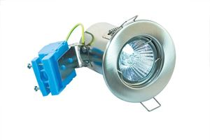 Picture of Satin Chrome Fixed Fire Rated Downlight FD-105