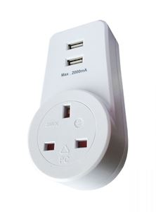 Picture of 13A PLUG IN ADAPTOR C/W 2 USB OUTLETS