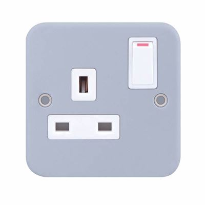 Picture of 1 gang switched socket MC921  metalclad