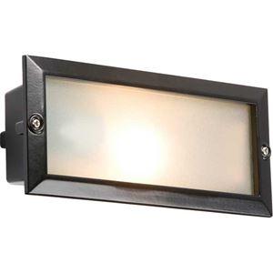 Picture of BRICK LIGHT INTERCHANGEABLE FACE BLACK 1 X 60W ES 233MM X 100MM X 75MM