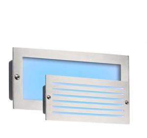 Picture of BRICK LIGHT BRUSHED STEEL BLUE LED LED 5W BLUE LOUVRE /PLAIN FASCIA