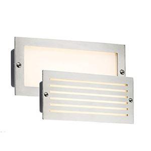 Picture of BRICK LIGHT BRUSHED STEEL WHITE LED LED 5W WHITE LOUVRE /PLAIN FASCIA