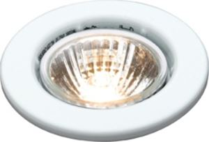 Picture of DGZ10W  MAINS GU10 Steel Ring Downlight WHITECP retaining ring; single clip fix