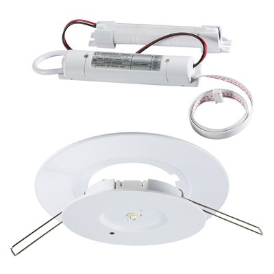 Picture of 3 HOUR EMERGENCY LED DOWNLIGHT DAYLIGHT NON MAINTAINED cut out 70-130mm