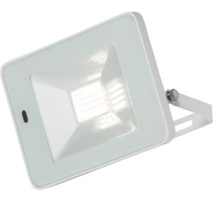 Picture of 20W LED FLOOD LIGHT WHITE C/W BUILT IN MICROWAVE SENSOR 180DEG H:126MM W:180MM  P:30MM KNIGHTSBRIDGE
