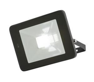 Picture of 20W LED FLOOD LIGHT BLACK C/W BUILT IN MICROWAVE SENSOR 180DEG H:147MM W:210MM  P:37MM KNIGHTSBRIDGE