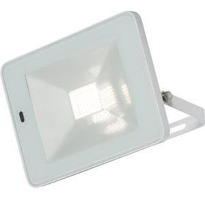 Picture of 20W LED FLOOD LIGHT WHITE C/W BUILT IN MICROWAVE SENSOR 180DEG H:147MM W:210MM  P:37MM KNIGHTSBRIDGE