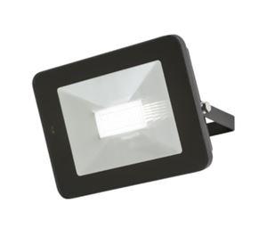 Picture of 50W LED FLOOD LIGHT BLACK C/W BUILT IN MICROWAVE SENSOR 180DEG H:182MM W:260MM  P:41MM KNIGHTSBRIDGE
