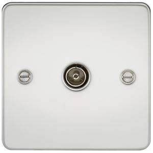 Picture of 1 GANG COAX OUTLET  FLAT PLATE POLISHED CHROME