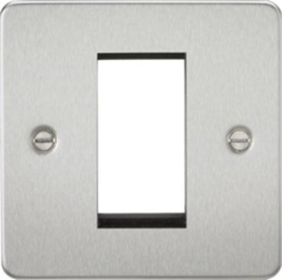 Picture of 1 GANG EURO MODULAR GRID PLATE 1 GANG BRUSHED CHROME