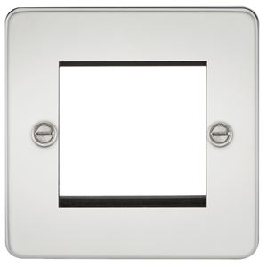 Picture of 2 GANG EURO MODULAR GRID PLATE 2 GANG POLISHED CHROME