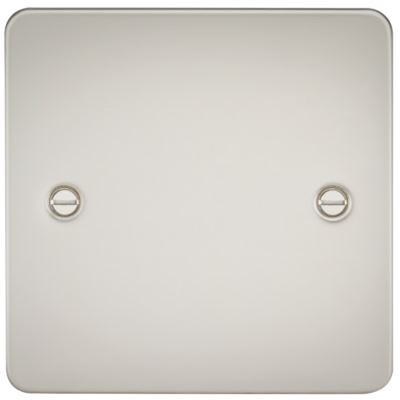 Picture of 1 GANG BLANK PLATE  FLAT PLATE PEARL