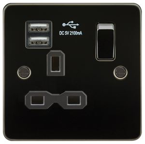 Picture of 1 GANG SOCKET  FLAT PLATE