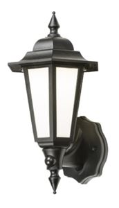 Picture of BLACK WALL LANTERN C/W PIR SENSOR MANUAL OVERRIDE  Knightsbridge