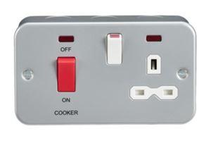 Picture of 45a COOKER UNIT C/W SOCKETMC970  METALCLAD