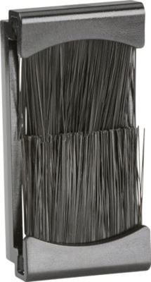 Picture of 1 GANG BRUSH PLATE GRID BLACK EURO ML ACC