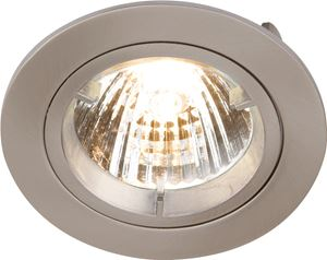 Picture of GU10 Die Cast Round Downlight SATINlocking front rim for easy lamp replacementsingle clip fix