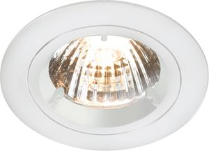 Picture of GU10 Die Cast Round Downlight WHITElocking front rim for easy lamp replacementsingle clip fix