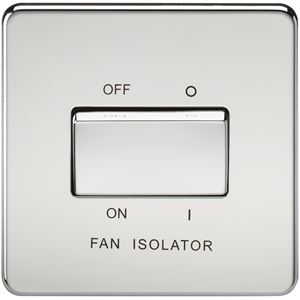 Picture of 1 FAN ISOLATOR SWITCH  SCREWLESS FLAT PLATE