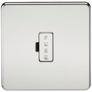 Picture of UNSWITCHED SPUR  SCREWLESS FLAT PLATE POLISHED CHROME