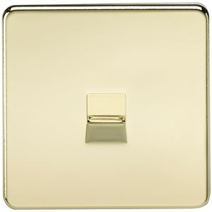 Picture of 1 GANG BT SLAVE SCREWLESS FLAT PLATE POLISHED BRASS