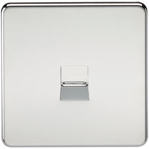 Picture of 1 GANG BT SLAVE SCREWLESS FLAT PLATE POLISHED CHROME