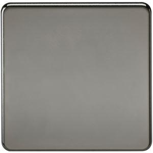 Picture of 1 GANG BLANK PLATE  SCREWLESS FLAT PLATE BLACK NICKEL
