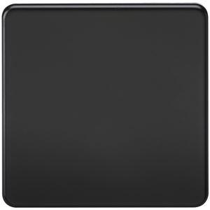 Picture of 1 GANG BLANK PLATE  SCREWLESS FLAT PLATE MATT BLACK
