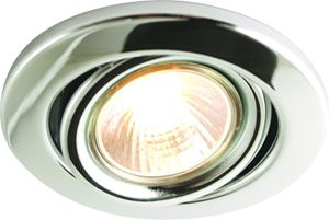 Picture of GU10  Steel Round Gimbal CHROME   Downlight