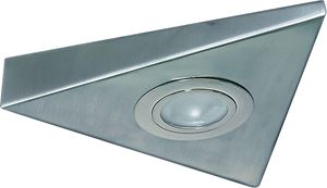 Picture of BRUSHED CHROME UNDERCUPBOARD FITTING C/W TRIANGLE LOW VOLTAGE