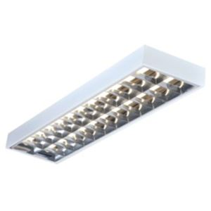Picture of TWIN SURFACE MOUNTED FITTING C/W CAT 2 LOUVRE  NO LAMP