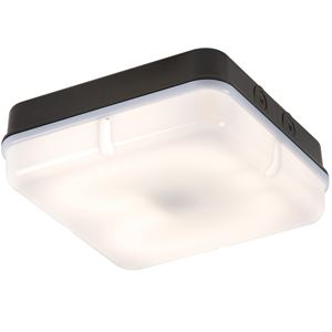 Picture of 28W 2D SQUARE BLACK/OPAL BULKHEAD C/W LAMP