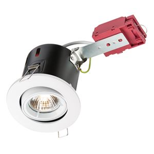 Picture of White Tilt Fire Rated Downlight CUT OUT 84mmKnightsbridge