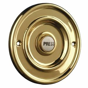 Picture of BRASS CIRCULAR  BELL PUSH