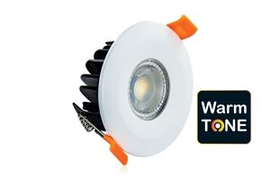 Picture of WARMTONE 6W DOWNLIGHT FIRE RATED 2200K-3000K 450LM DIM TO 75LM CUT OUT 70MM DEPTH 50MM IP65     SHALLOW INTEGRAL