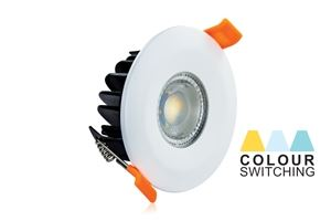 Picture of LED DOWNLIGHT COLOUR SWITCH/DIMMABLE 3000K/4000K/5000K CUT OUT 70MM DEPTH 50MM FIRE RATED IP65       SHALLOW INTEGRAL