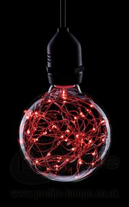 Picture of 1.7W RED LED FUNKY FILAMENT GLOBE 1.7W ES