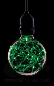 Picture of 1.7W GREEN LED FUNKY FILAMENT GLOBE 1.7W ES