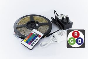 Picture of 5MTR COLOUR CHANGING LED STRIP REMOTE CONTROL FULLY DIMMABLE 12V 7.2W PLUG & PLAY INTEGRAL