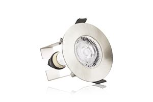 Picture of EVOFIRE INTEGRAL FIRE RATED DOWNLIGHT SATIN C/W INSULATION GUARD GU10 IP65 3YR WARRANTY 70MM CUT OUT INTEGRAL