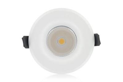 Picture of 12W INTERGRATED LED DOWNLIGHT WHITE COOL WHITE DIMMABLE 850 LUMEN 55DEG INTEGRAL CUT OUT 70MM