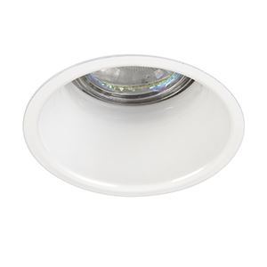 Picture of PEAKE 50W GU10 ANTI GLARE DOWNLIGHT WHITE 84MM DIA  75MM CUT OUT  150MM VOID SAXBY