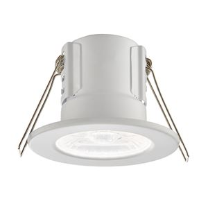 Picture of ShieldECO 4W DIMMABLE LED FITTING MATT WHITE COOL WHITE 500LM IP65 57mm CUT OUT ANTI GLARE LENSE