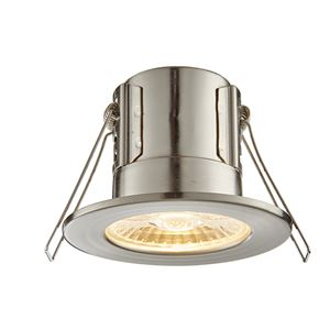 Picture of ShieldECO 4W DIMMABLE LED FITTING SATIN NICKE WARM WHITE 500LM IP65 57MM CUT OUT ANTI GLARE LENSE