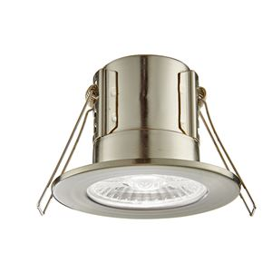 Picture of ShieldECO 4W DIMMABLE LED FITTING SATIN NICKE COOL WHITE 500LM IP65 57MM CUT OUT ANTI GLARE LENSE