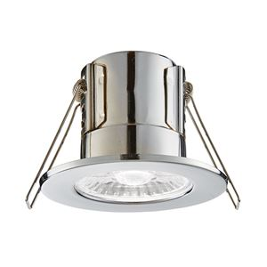 Picture of ShieldECO 4W DIMMABLE LED FITTING CHROME COOL WHITE 500LM IP65 ANTI GLARE LENSE