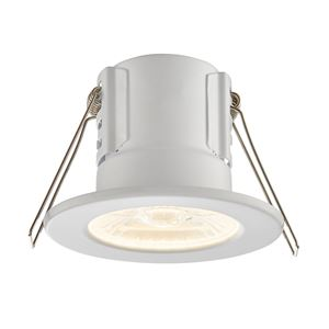 Picture of ShieldECO 8.5W DIMMABLE LED FTG MATT WHITE WARM WHITE 750LM IP65 57mm CUT OUT