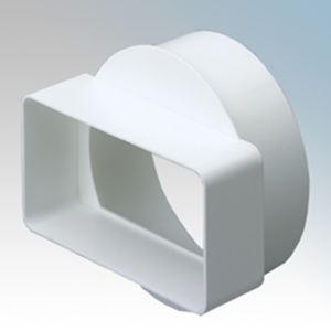 Picture of 110MM X 54MM CHANNEL ADAPTOR TO 100MM ROUND