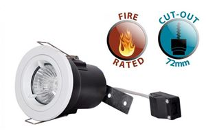 Picture of FIRE RATED DOWNLIGHT WHITE GUFRFIXED EQUIVALENT SUN